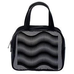 Two Layers Consisting Of Curves With Identical Inclination Patterns Classic Handbags (one Side) by Simbadda