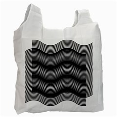 Two Layers Consisting Of Curves With Identical Inclination Patterns Recycle Bag (two Side)  by Simbadda