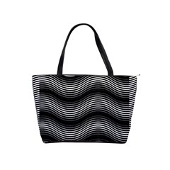 Two Layers Consisting Of Curves With Identical Inclination Patterns Shoulder Handbags by Simbadda