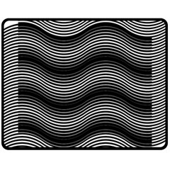 Two Layers Consisting Of Curves With Identical Inclination Patterns Fleece Blanket (medium)  by Simbadda