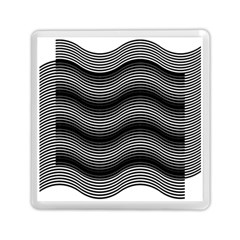 Two Layers Consisting Of Curves With Identical Inclination Patterns Memory Card Reader (square)  by Simbadda