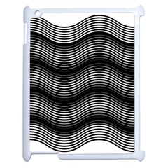 Two Layers Consisting Of Curves With Identical Inclination Patterns Apple Ipad 2 Case (white) by Simbadda