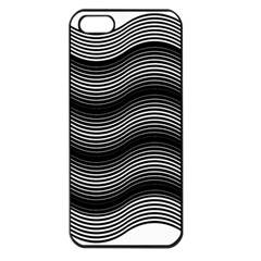 Two Layers Consisting Of Curves With Identical Inclination Patterns Apple Iphone 5 Seamless Case (black) by Simbadda