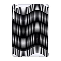 Two Layers Consisting Of Curves With Identical Inclination Patterns Apple Ipad Mini Hardshell Case (compatible With Smart Cover)