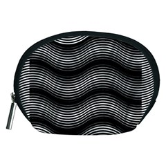 Two Layers Consisting Of Curves With Identical Inclination Patterns Accessory Pouches (medium)  by Simbadda