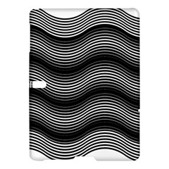 Two Layers Consisting Of Curves With Identical Inclination Patterns Samsung Galaxy Tab S (10 5 ) Hardshell Case