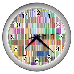 Overlays Graphicxtras Patterns Wall Clocks (silver)  by Simbadda