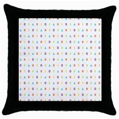 Sign Pattern Throw Pillow Case (black) by Simbadda