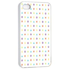 Sign Pattern Apple Iphone 4/4s Seamless Case (white) by Simbadda