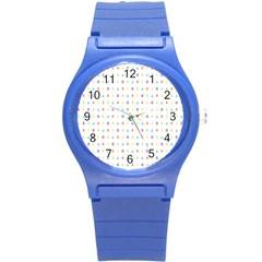 Sign Pattern Round Plastic Sport Watch (s) by Simbadda