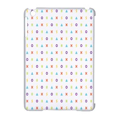 Sign Pattern Apple iPad Mini Hardshell Case (Compatible with Smart Cover) by Simbadda