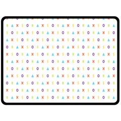 Sign Pattern Double Sided Fleece Blanket (large)  by Simbadda