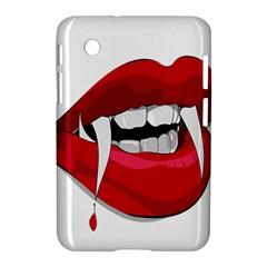 Mouth Jaw Teeth Vampire Blood Samsung Galaxy Tab 2 (7 ) P3100 Hardshell Case  by Simbadda