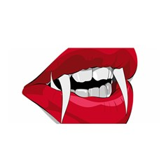 Mouth Jaw Teeth Vampire Blood Satin Wrap by Simbadda