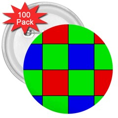 Bayer Pattern 3  Buttons (100 Pack)