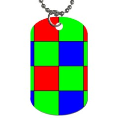 Bayer Pattern Dog Tag (Two Sides) by Simbadda
