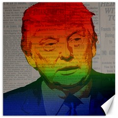 Rainbow Trump  Canvas 12  X 12   by Valentinaart