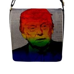 Rainbow Trump  Flap Messenger Bag (l)  by Valentinaart