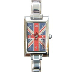 Vintage London Rectangle Italian Charm Watch by Valentinaart