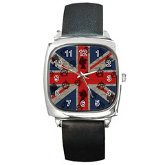 United Kingdom  Square Metal Watch by Valentinaart