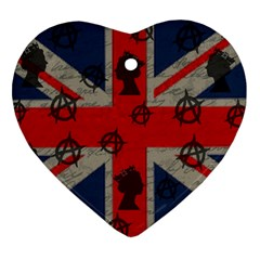 United Kingdom  Heart Ornament (two Sides) by Valentinaart
