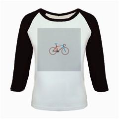 Bicycle Sports Drawing Minimalism Kids Baseball Jerseys by Simbadda