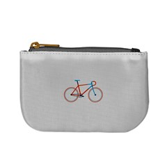 Bicycle Sports Drawing Minimalism Mini Coin Purses by Simbadda