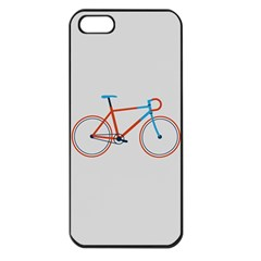 Bicycle Sports Drawing Minimalism Apple Iphone 5 Seamless Case (black) by Simbadda