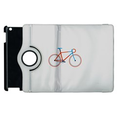 Bicycle Sports Drawing Minimalism Apple Ipad 2 Flip 360 Case by Simbadda