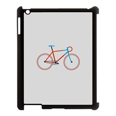 Bicycle Sports Drawing Minimalism Apple Ipad 3/4 Case (black) by Simbadda