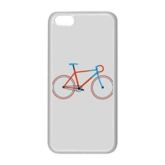 Bicycle Sports Drawing Minimalism Apple Iphone 5c Seamless Case (white) by Simbadda