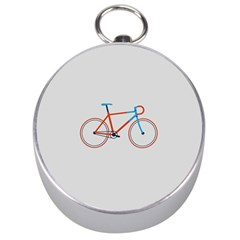 Bicycle Sports Drawing Minimalism Silver Compasses