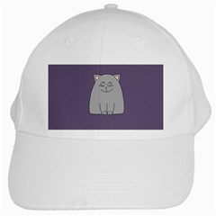 Cat Minimalism Art Vector White Cap by Simbadda
