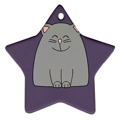 Cat Minimalism Art Vector Ornament (star) by Simbadda