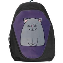 Cat Minimalism Art Vector Backpack Bag by Simbadda
