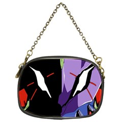 Monster Face Drawing Paint Chain Purses (one Side)  by Simbadda
