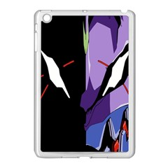 Monster Face Drawing Paint Apple Ipad Mini Case (white) by Simbadda