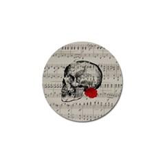 Skull And Rose  Golf Ball Marker by Valentinaart