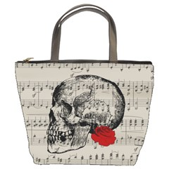 Skull And Rose  Bucket Bags by Valentinaart