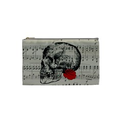 Skull And Rose  Cosmetic Bag (small)  by Valentinaart