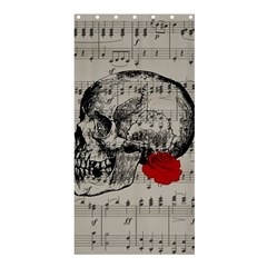 Skull And Rose  Shower Curtain 36  X 72  (stall)  by Valentinaart