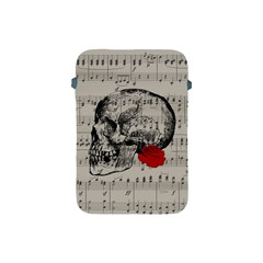 Skull And Rose  Apple Ipad Mini Protective Soft Cases by Valentinaart