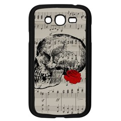 Skull And Rose  Samsung Galaxy Grand Duos I9082 Case (black) by Valentinaart