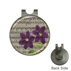 Vintage Purple Flowers Hat Clips With Golf Markers by Valentinaart