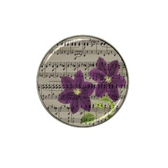 Vintage Purple Flowers Hat Clip Ball Marker (10 Pack) by Valentinaart