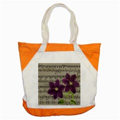 Vintage Purple Flowers Accent Tote Bag by Valentinaart