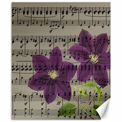 Vintage Purple Flowers Canvas 8  X 10  by Valentinaart