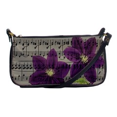 Vintage Purple Flowers Shoulder Clutch Bags by Valentinaart
