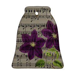 Vintage Purple Flowers Bell Ornament (two Sides) by Valentinaart
