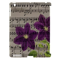 Vintage Purple Flowers Apple Ipad 3/4 Hardshell Case (compatible With Smart Cover) by Valentinaart
